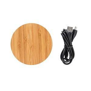 Bezdrátová nabíječka 5W Bamboo X, hnědá