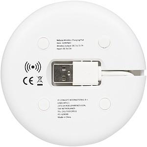 Podložka k bezdrátovému nabíjení s kabelem 2v1, bílá