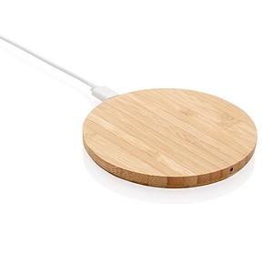 Bambusová bezdrátová nabíječka 5W, hnědá