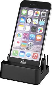 Osvětlený stolní stojánek na telefon, černá