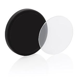Bezdrátová nabíječka 5W s tvrzeným sklem, černá