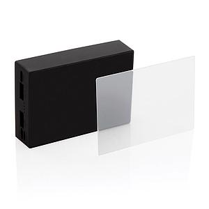 Bezdrátová powerbanka 5 000 mAh s tvrzeným sklem, černá