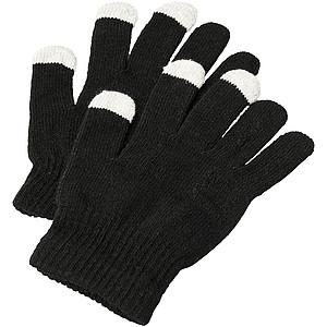 Hmatové rukavice pro mobilní telefon, černá