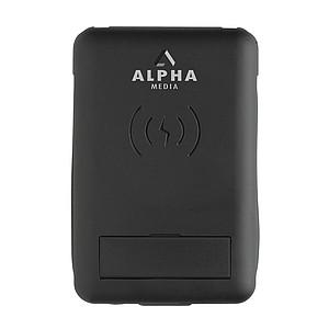 Multifunkční cestovní karta s bezdrátovým nabíjením 5W, černá