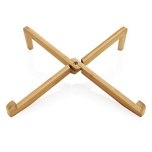 Bambusový stojánek na notebook, hnědá