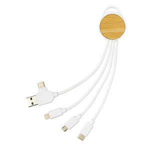 Kapesní nabíjecí kabel 6 v 1 Ontario, bílá