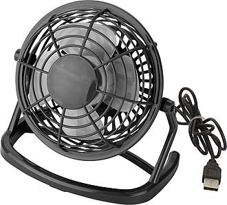FANUS Stolní USB ventilátor, černá