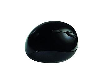 VINDOLA Černá ergonomická bezdrátová myš, 2,4 GHz