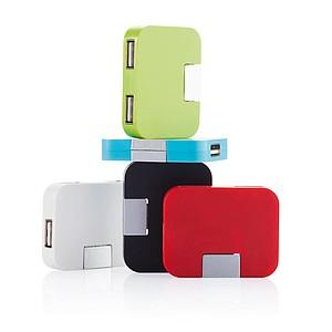Cestovní USB hub se 4 porty, bílá
