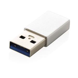Adaptér USB A na USB C, stříbrná