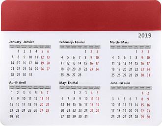 Podložka na myš s kalendářem, červená
