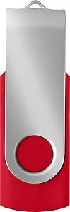 KARKULA USB flash disk kapacita 16GB, stříbrno červená