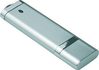 LOTUS USB flash disk se šňůrkou, kapacita 8GB, stříbrná