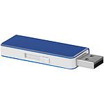 USB disk 2 GB s bílým základem, černá