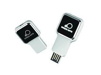 RAULO Výsuvný USB flash disk, 16 GB, bílá