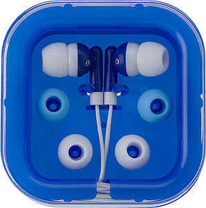 PEPA Sluchátka s náhradními gumičkami v modré plastové krabičce