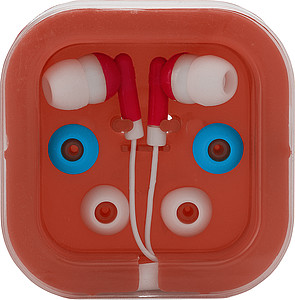 PEPA Sluchátka s náhradními gumičkami v červené plastové krabičce