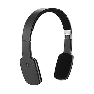 TIBERIUS Tenká lehká elegantní Bluetooth sluchátka, černá