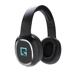Bezdrátová náhlavní sluchátka, černá