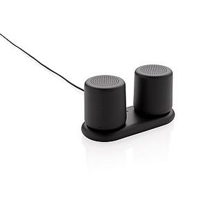 Set bezdrátově nabíjených stereo reproduktorů, černá