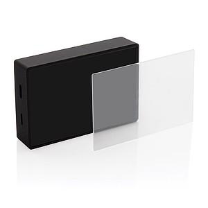 Bezdrátový reproduktor 3W s tvrzeným sklem, černá