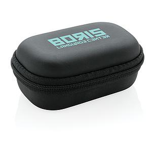 TWS sportovní sluchátka v nabíjecí krabičce, černá