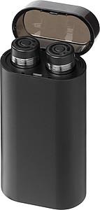 Sluchátka se svítící powerbankou, černá