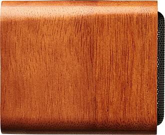 PORTON Dřevěný reproduktor s bezdrátovou nabíjecí podložkou, středně hnědá