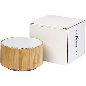 Bambusový bezdrátový reproduktor, bílá