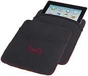 Neoprenový obal na iPad, černá, červená