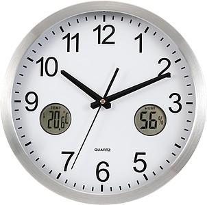 Nástěnné hodiny s teploměrem