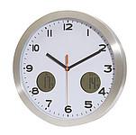 Nástěnné hodiny s teploměrem pro vnitřní i venkovní teplotu