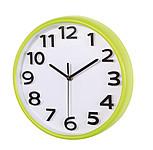 Analogové nástěnné hodiny s tenkým zeleným rámem