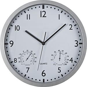 Nástěnné hodiny s teplo a vlhkoměrem, bílé