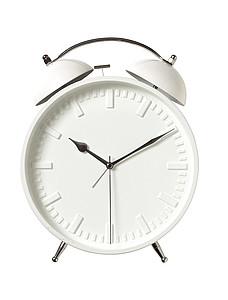 Velký bílý budík reklamní hodiny s potiskem