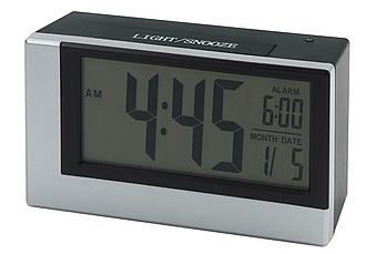 Digitální stolní hodiny s budíkem