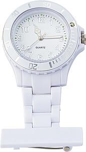 Plastové hodinky se spínacím špendlíkem, bílé