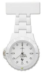 Analogové hodinky pro zdravotní sestry, bílá reklamní hodiny s potiskem