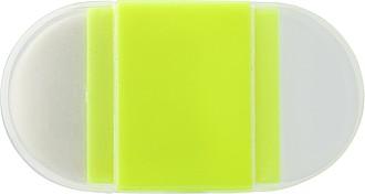 Plastové ořezávátko na tužky, s gumou, žluté