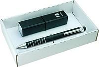 ALIDOS Sada černého touch pera a powerbanky, modrý box