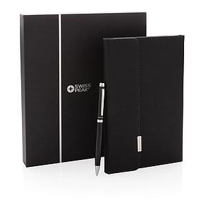 POZULI Set obalu na zápisník a pera, černá
