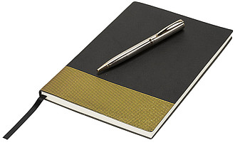 Midas zápisník & pero dárkový set, černá