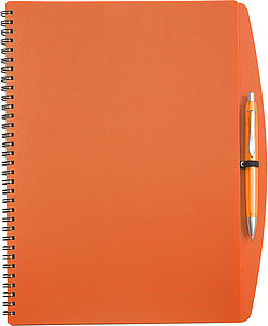 LIBERO Linkovaný blok s kul.perem, A4, obal oranžový