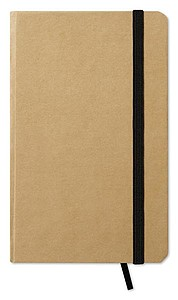 Recyklovaný zápisník s gumičkou, blokem, 96 stránek, černá