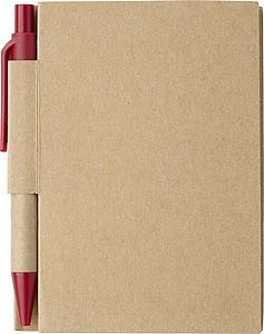 SAFON Malý linkovaný zápisník s KP s černou náplní a červenými detaily
