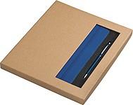 Set plast. KP se stylusem a A5 link. bloku v krabičce, modrá
