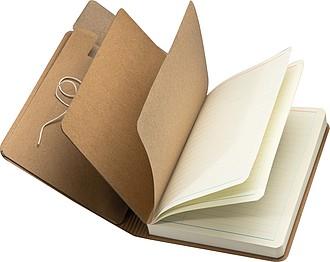 BENET Zápisník se 120 link.listy a uzavíratelnou obálkou