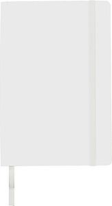 RATOFER Zápisník s měkkým potahem A5 a zadní kapsou. Bílá.
