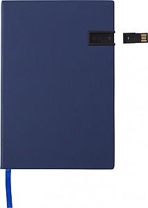 ENZO Zápisník A5, 96 linkovaných stran s 16GB USB, bílý
