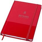 Zápisník se záložkou a gumičkou, červená